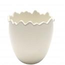 Ceramic egg open uni, height 11cm, diameter 11cm